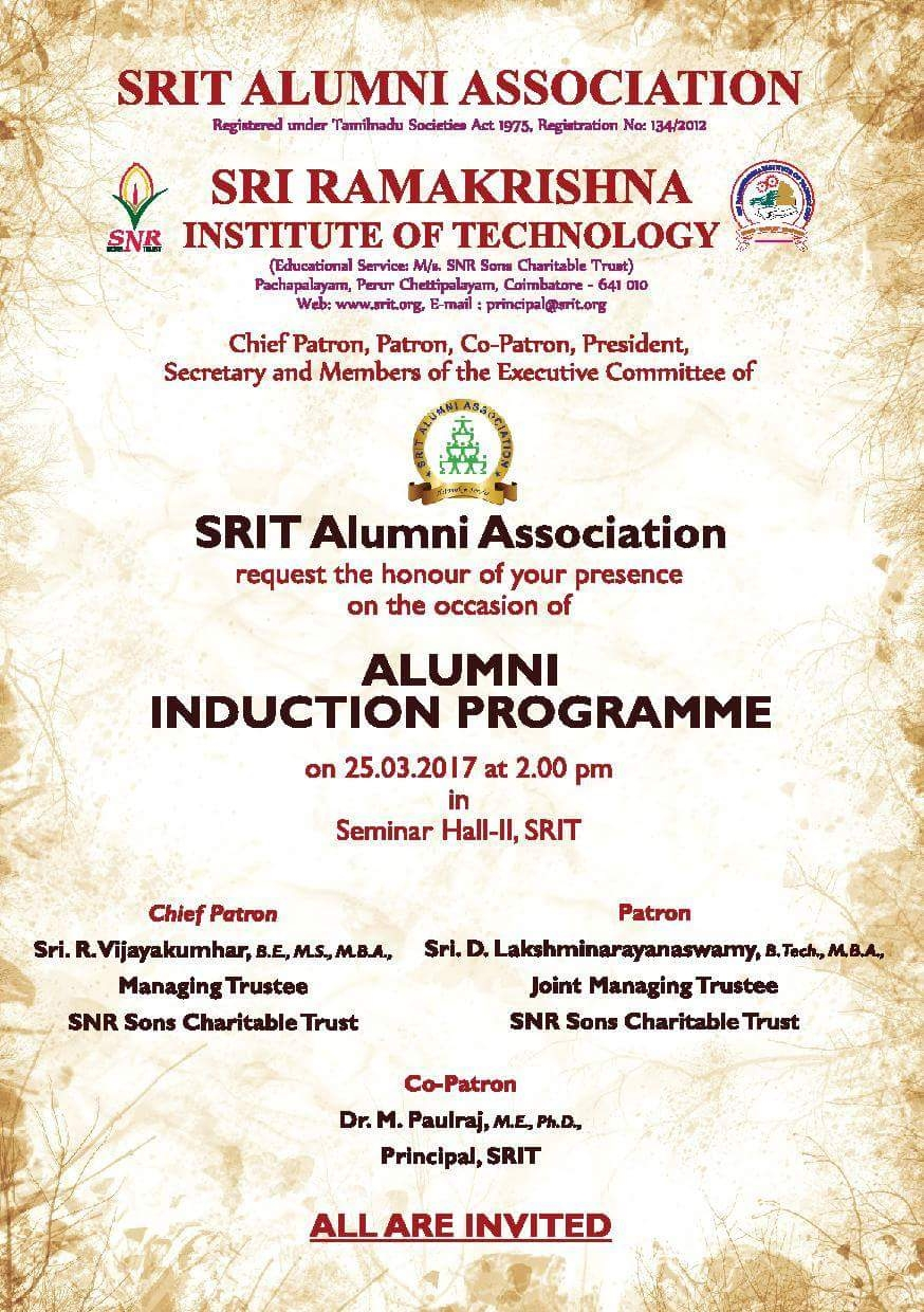 ALUMNI INDUCTION PROGRAMME